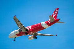 BANGKOK, THAILAND - JUNE 1, 2015: HS-ABK Airbus A320-216 of Thai Air Asia lan Stock Photos