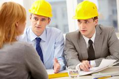 Two architects Stock Photos