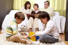 Family idyll - stock photo