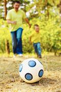 Ball on grassland Stock Photos
