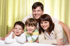 Idyll family - stock photo