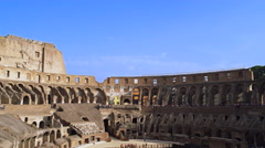 Inside the Coliseum in Rome, Italy 4K Stock Video Footage Stock Footage