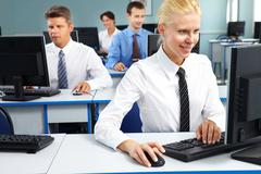 Female office worker - stock photo
