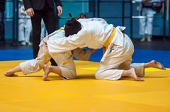 Girls in Judo - stock photo
