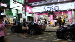 Mongkok area in the evening, Hong Kong Stock Footage