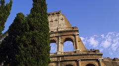 The Rome Coliseum During the Day In Italy, 4K Stock Video Footage Stock Footage