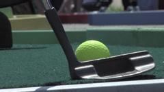 Miniature golf Stock Footage