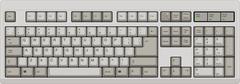 US English qwerty computer keyboard. Grey color - stock illustration