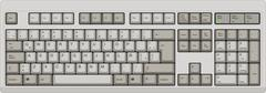 LA (Latin American) Spanish qwerty computer keyboard. Grey color - stock illustration
