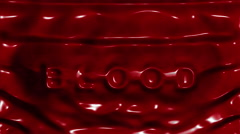 Stock Video Footage of caustics blood