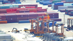 Port Container Dock Loading Cargo Stock Footage