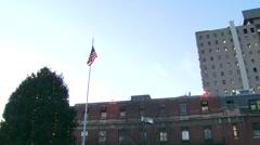 Exterior of Peter Bent Brigham Building in Boston, Massachusetts Stock Footage