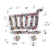 People in the shape of baskets Stock Illustration
