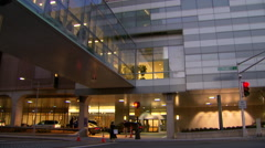 Modern hospital exterior Stock Footage