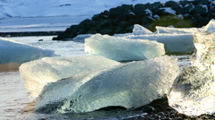 Melting ice floes at the glacier lagoon Jokulsarlon in Iceland, part2 Stock Footage