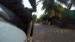 Road view during a motorbike ride in Mumbai, timelapse. Stock Footage