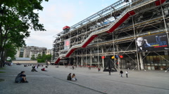 Centre of Georges Pompidou in Paris, France. - stock footage