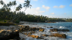 Goyambokka beach, Tangalle, Sri Lanka, Asia Stock Footage