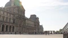 Paris - Place du Louvre Stock Footage