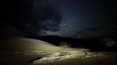Stock Video Footage of 4K Astrophotography Time Lapse of Milky Way over Sand Dunes in Desert -More Dune