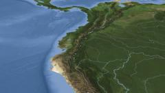 Ecuador on maps - Do It Yourself as you like. Neighbourhood Stock Footage