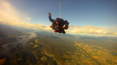 Disclosure of a parachute Stock Footage