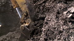 Coal digger in a mine Stock Footage