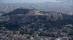 The Acropolis in Athens.  Parthenon from above - stock footage