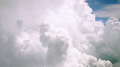 Flying through high clouds Stock Footage