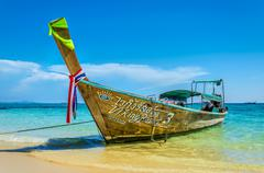 Traditional thai longtail boat in Thailand Stock Photos