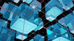 Abstact cubes loop version 05 Stock Footage