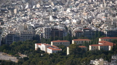 Athens from above - stock footage