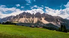 Dolomites timelapse 4K Stock Footage