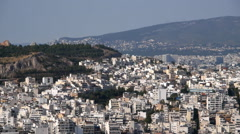 Athens overview - stock footage
