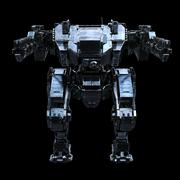 3d rendered mech isolated background - stock illustration