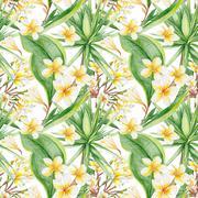 Botanic Tropical Pattern Stock Illustration