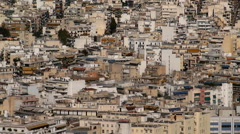 The Urban sprawl of Athens Stock Footage