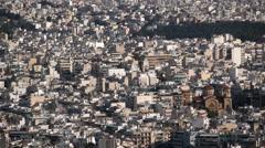 The Urban sprawl of Athens - stock footage