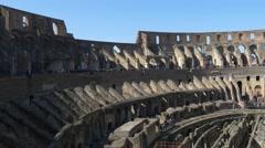 4k Colosseum Rome Italy Roman Coliseum famous Italian landmark travel icon forum Stock Footage