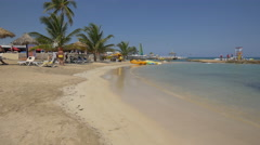 Quiet afternoon on the beach in Jamaica - stock footage