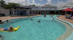 Aerobics in the pool in Jamaica Stock Footage