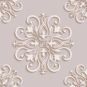 Floral seamless wallpapers in the style of Baroque . Can be used for backgrounds Stock Illustration
