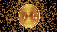 Bitcoin Appearance. Alpha Matte. Stock Footage