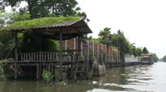 Pagoda On An Asian River Bank - 11 Stock Footage