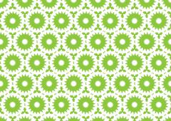 Green Retro Seamless Wallpaper - stock illustration