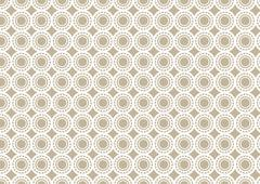 Abstract Brown Circle Pattern Retro  Wallpaper Stock Illustration
