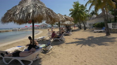 Private beach in Jamaica - stock footage
