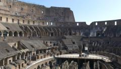 4k Colosseum Rome Italy Roman Coliseum famous Italian landmark travel icon forum - stock footage