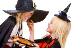 Halloween twins Stock Photos