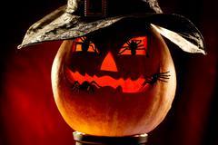 Evil pumpkin - stock photo
